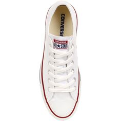 CONVERSE Chuck Taylor All Star Ox Canvas Sneakers - White (€86) ❤ liked on Polyvore featuring shoes, sneakers, converse, zapatillas, converse footwear, rubber sole shoes, plimsoll sneaker, converse trainers and star sneakers