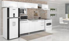 Cozinha Completa Ferrara Branco - Móvel Bento