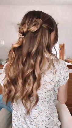 Hair Tricks, Hair Tutorials, Everyday Hairstyles, Summer Hairstyles, Hairdos, Bun Hairstyles, Hair Inspo, Hair Inspiration, Hair Color For Black Hair