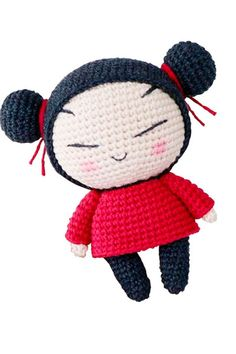 Pucca chica muñeca ganchillo amigurumi patrones gratis - Lovelycraft Doll Amigurumi Free Pattern, Crochet Dolls Free Patterns, Crochet Doll Pattern, Amigurumi Doll, Doll Patterns, Pattern Ideas, Crochet Cow, Crochet Turtle, Crochet Girls
