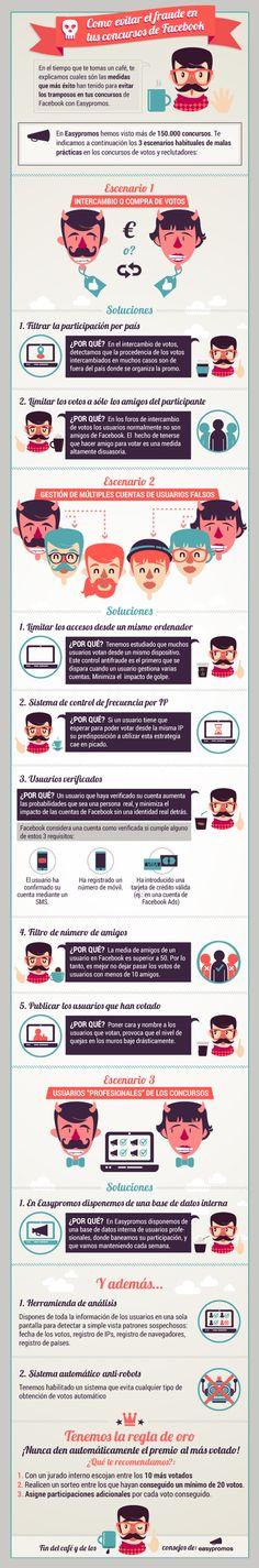 Cómo evitar el fraude en los concursos de FaceBook #infografia