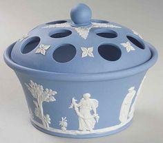 Wedgwood Blue JASPERWARE Potpourri Jar