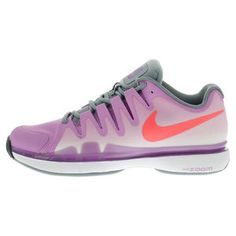 Amazing Nike Women's Zoom Vapor 9.5 Tour Tennis Shoes is perfect blend of color -- these ultra lighweight shoes were designed specifically for the woman with speed in mind! Be quick to order yours >> http://www.tennisexpress.com/nike-womens-zoom-vapor-95-tour-tennis-shoes-fuchsia-glow-and-dove-gray-44148 #TennisExpress