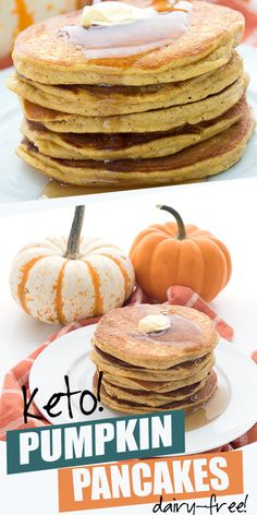Keto pumpkin pancakes made with coconut flour. These low carb pumpkin pancakes are dairy-free and gluten-free and can b. Keto pumpkin pancakes made with coconut flour. These low carb pumpkin pancakes are dairy-free and gluten-free and can b. Sugar Free Pancakes, Coconut Flour Pancakes, Pumpkin Pancakes, Keto Pancakes, Waffles, Keto Diet Breakfast, Breakfast Recipes, Fall Breakfast, Breakfast Ideas
