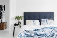 Personalise your bedhead with the MyMexsii Designer. Free delivery and returns. Choose from luxe Belgian linen, artwork, bordered styles an exclusive buttons. Make Design, Bed Design, Design Crafts, Design Your Own, Hand Lettering Art, Master Bedroom, Minimalist, Interior Design, House