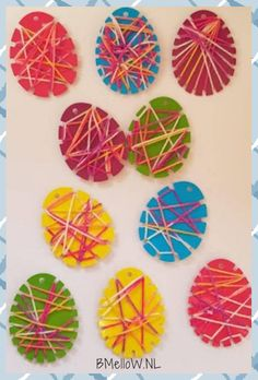 String art Easter egg crafts with toddlers and preschoolers String art Easter egg . - String art Easter egg tinkering with toddlers and preschoolers String art Easter egg tin - Easter Art, Easter Crafts For Kids, Toddler Crafts, Preschool Crafts, Easter Eggs, Fun Crafts, Arts And Crafts, Creative Crafts, Crafts Toddlers