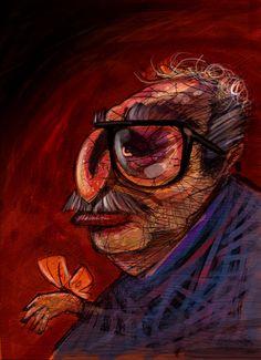 Gabo - Gabriel García Marquez - ilustración Freddy Leal Gabriel Garcia, Illustration, Painting, Gabriel Garcia Marquez, Innovative Products, Illustrations, Allegiant, Comics, Painting Art