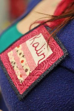 quilted name tag basic for even a beginner