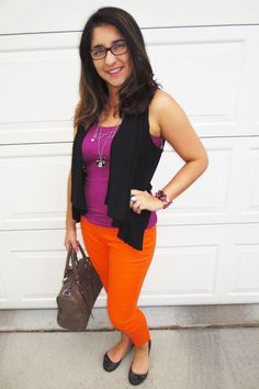 Occupy the Wardrobe: Color Block of orange, purple and black - very Halloween-ish