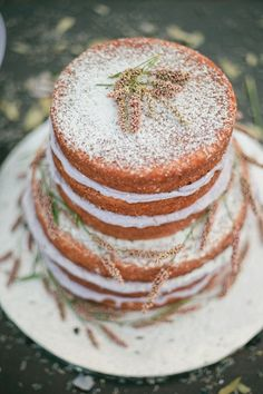 naked lavender wedding cake,lavender wedding cakes,rustic lavender wedding cake