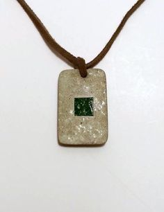 Concrete Necklace Concrete Jewelry Green by DeerwoodCreekGifts, $30.00