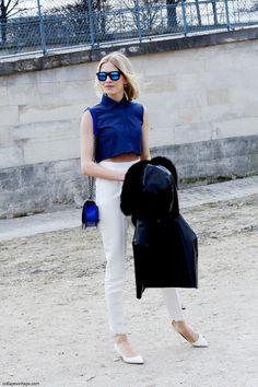 Elena Perminova before the Chanel Runway Next Ladies Fashion, Womens Fashion, Chanel Runway, Collage Vintage, Russian Fashion, Street Style, Cheese, Chic, Lady
