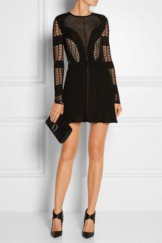 Dagmar   Elisa open-back lace and stretch-knit mini dress   NET-A-PORTER.COM