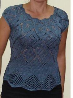 La blusa Larimix lujosa (la Labor de punto por los rayos) — la Revista la Inspiración de la Laborera
