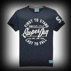 スーパードライ極度乾燥 Worn Wash T-shirt Tシャツ アバクロ ホリスターより個性派! #ITSHOPアバクロcom Superdry極度乾燥のロゴがフロントから袖までプリントされてカッコイイです。