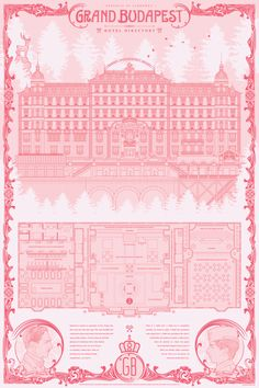 The detail in this Anthony Petrie print is beyond. Showing the layout of the Grand Budapest - it has everything included. Pick one up now - perfect for any Wes Anderson fan, right here:. Wes Anderson Movies, Grande Hotel, Grand Budapest Hotel, Book Design Layout, Graphic Design Illustration, Pattern Wallpaper, Poster Wall, Screen Printing, Prints