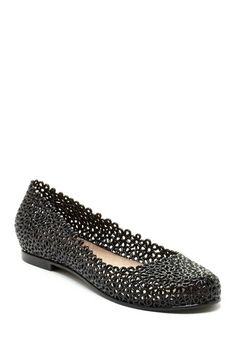 Pippa Floral Flat by Shoe Mania on @HauteLook