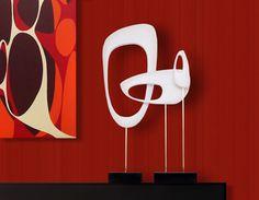 halverwege de eeuw moderne abstracte retro door Jetsetretrodesign