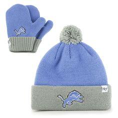 Detroit Lions Bam Bam Set Blue Raz 47 Brand INFANT Hat 015d361fe58
