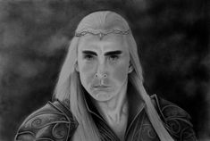Thranduil (The Hobbit: Battle of the Five Armies) graphite pencil drawing.