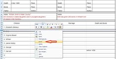 A couple of years ago, I posted several articles about using Excel to help with genealogy research. I created my own version of Family Group Sheets and this week, I've begun making modificat…