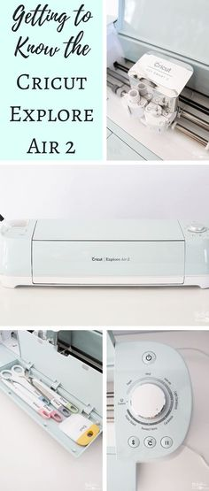 Getting to Know the Cricut Explore Air 2 - an up close look at the latest addition to the Cricut family. Check out the unboxing video! #cricutmade #ad @originalcricut