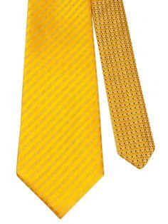 Flipmytie - Men's Yellow Reversible Tie, $24.99 (http://www.flipmytie.com/mens-yellow-reversible-tie/)