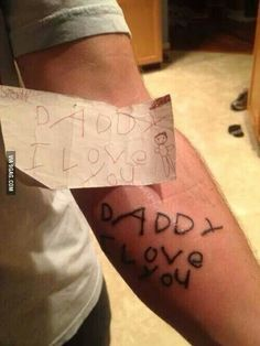After his son died, this Dad had his son's last note to him tattooed on his arm. I challenge you to not get choked up looking at this...