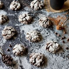 These deep dark Double Chocolate Crinkle Cookies are truly decadent!