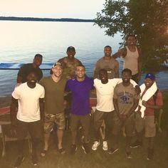 Carson Wentz takes group photo from Fargo trip