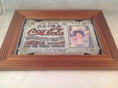 "Coca Cola Mirror Sign ""Delights Taste America's Favorite and the Whole World"" #CocaCola"
