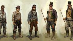 Red Dead Redemption Concept Art - Walton's Gang