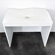 Liquid washstand - Concrete vanity with integral sink by Concrete Works Bermuda. Concrete, Stool, Sink, Vanity, Table, Furniture, Home Decor, Sink Tops, Dressing Tables
