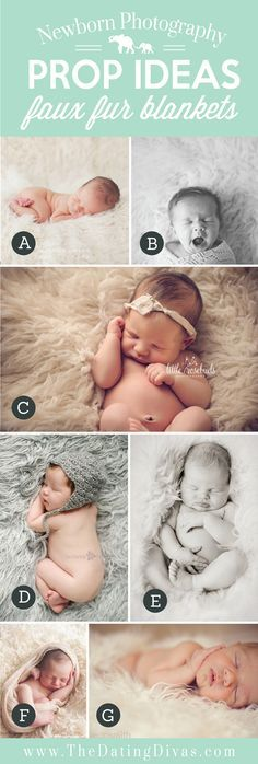 Adorable Newborn Photography Prop Ideas using Faux Fur
