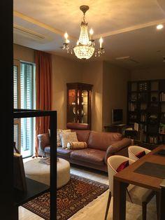 アンティークシャンデリア取り付け例 Houzz, My House, Beautiful Homes, Layout, Curtains, Warm, Living Room, Interior, Japan