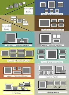 Organize sem frescuras!: Faça você mesmo- composição de quadros na parede