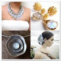 {theme} Moonstone Bridal Jewelry - Borrowed & Bleu love the moonstone! #bleulovesbhldn
