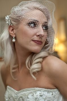 Wedding Hair Style - The 'do'! - VINTAGEGLAMOURBRIDE's Black Wedding by Color Blog