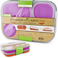 $25 Smart Planet Collapsible Eco Lunch Box Bento lunches are a great way to be eco friendly and also you can do fun things to make your kids want to eat healthy foods. #WalmartGreen