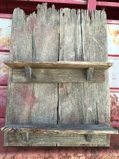 1890s recycle Barnwood shelves by Katie