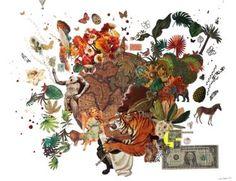 Original Botanic Collage by Wibke Brode Buy Art, Surrealism, Saatchi Art, Original Art, Illustration Art, Collage, Neon, Sculpture, Green Flowers