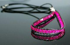Pink Crystal Headband Beaded Headband by Desperer on Etsy