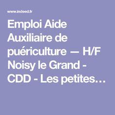 Emploi Aide Auxiliaire de puériculture — H/F Noisy le Grand - CDD - Les petites…