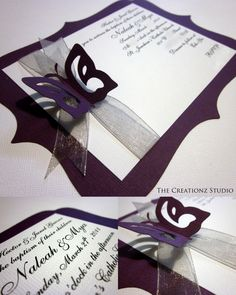 Butterfly Baptism Invites