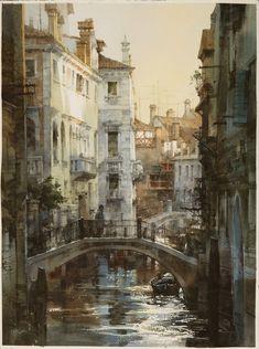 【威尼斯交響曲】...watercolor,76*54cm,簡忠威2013水彩創作 【Venice Symphony】... watercolor, 76*54cm, 2013, Chung-Wei Chien
