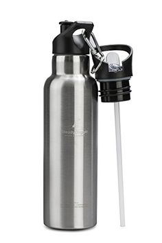 Stainless Steel Water Bottle Vacuum Insulated Water Bottle Double Walled Water Bottle with Dual Lids Straw Lid and Sports Lid with Carabiner * See this great product. (This is an affiliate link) Camping Items, Camping And Hiking, Camping Gear, Stainless Steel 304, Stainless Steel Water Bottle, Running Accessories, Insulated Water Bottle, Kitchen Sets, Conditioner