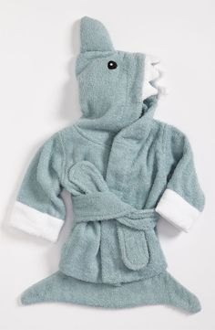 Cute terry towel robe for the little mans bath