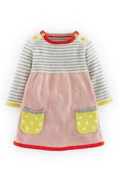 Mini Boden Sweet Knit Sweater Dress (Baby Girls) available at – baby sweaters Baby Girl Dresses, Baby Outfits, Baby Dress, Kids Outfits, Baby Girls, Dress Girl, Kids Girls, Knitting Baby Girl, Knitting For Kids
