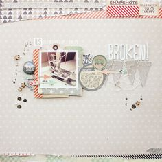 ILS - scrapbooking: Broken - video tutorial by Janna Werner