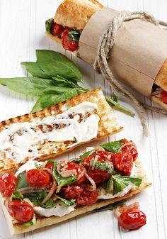 Charred Tomato Caprese Sandwich